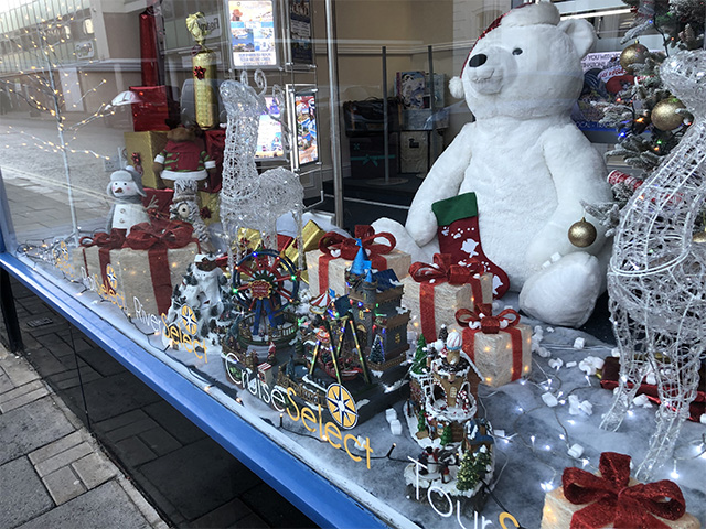 Christmas Window Display in Bedford Town Centre